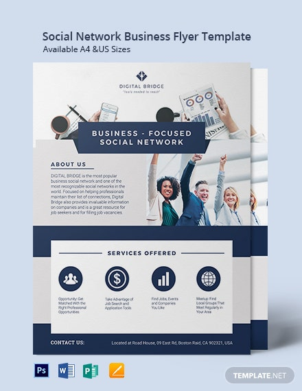 Social Network Business Flyer Template
