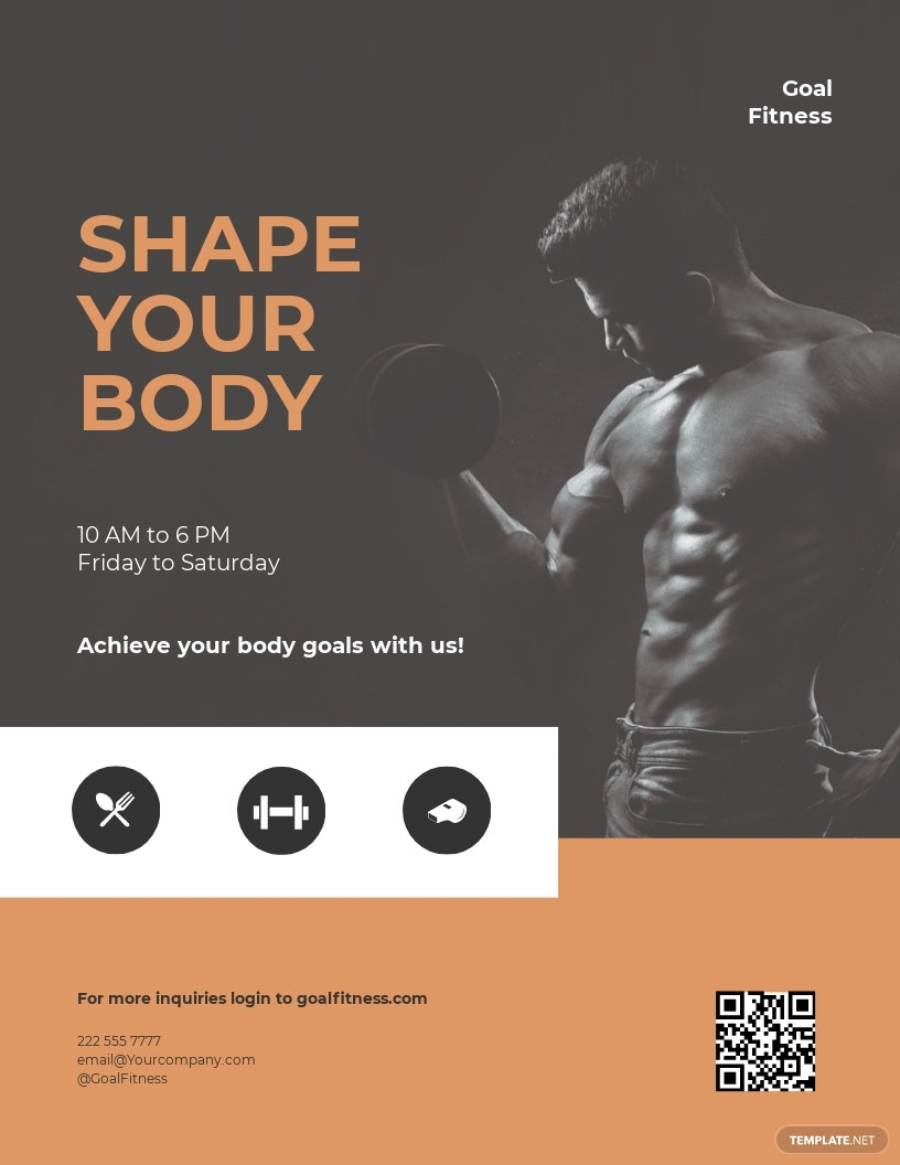 Sports Fitness Gym Flyer Template.jpe