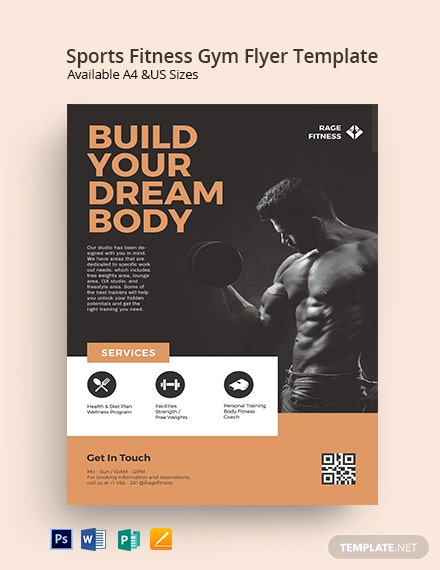Sports Fitness Gym Flyer Template
