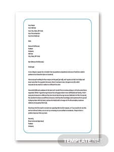 Transfer Request Letter for Bank Employee Template