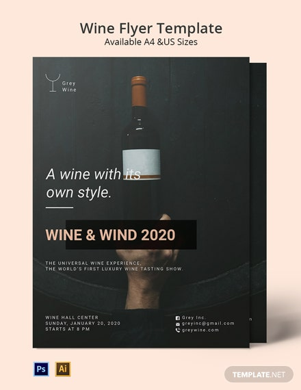 Wine Testing Flyer Template
