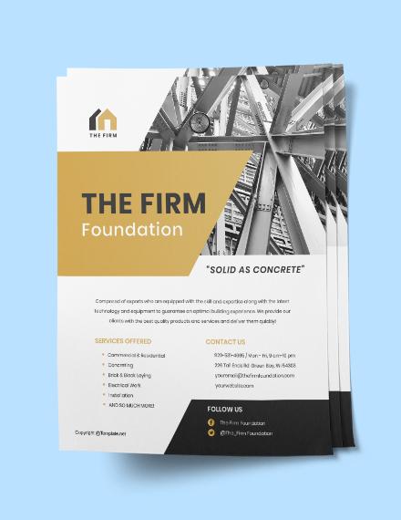 Printable Construction Flyer Sample