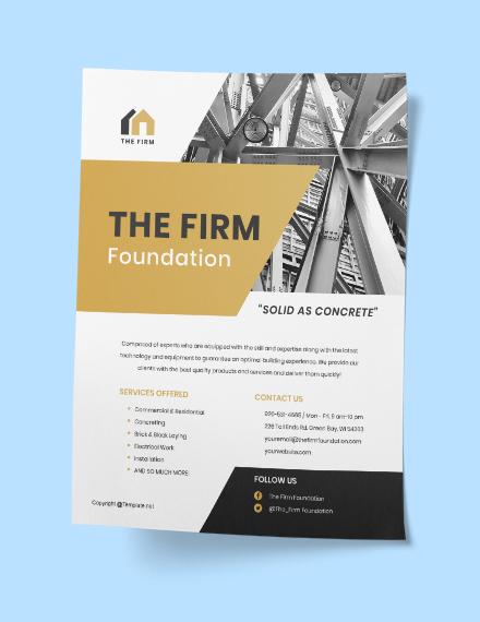 Printable Construction Flyer Printable