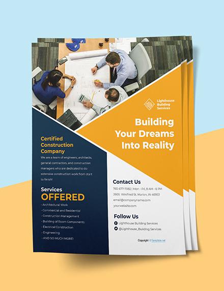 Editable Construction Flyer Printable
