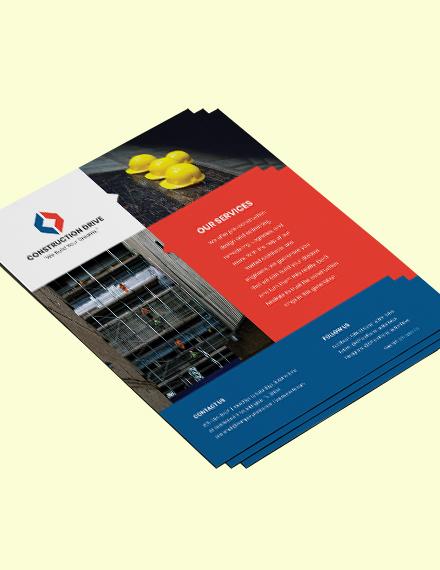 Basic Construction Flyer Format