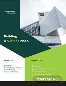 Free Simple Construction Flyer Template