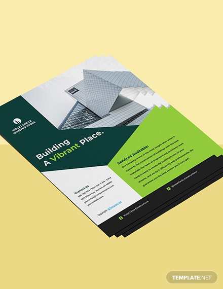 Simple  Construction Flyer Template Format