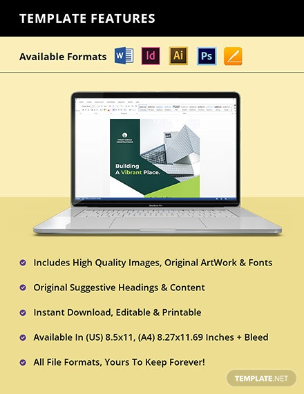Simple  Construction Flyer Template Instruction