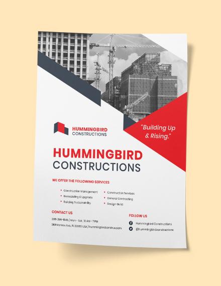 Sample Construction Flyer Instruction