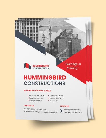 Sample Construction Flyer Sample