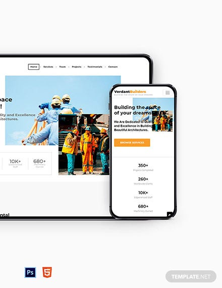 Builder Website Template