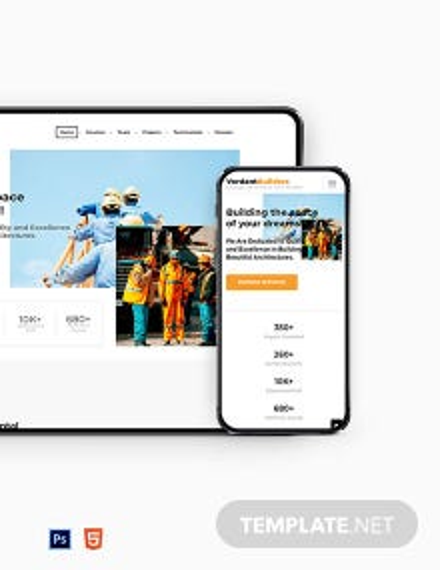 Builder Website Template