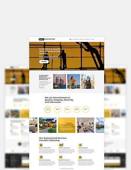 Construction Builder Website Format