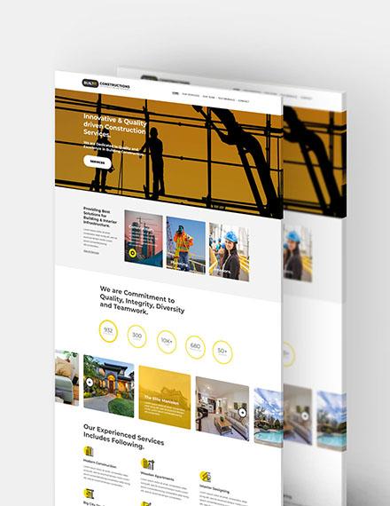 Construction Builder Website Template