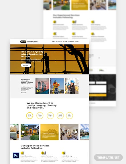 Construction Builder Website Template