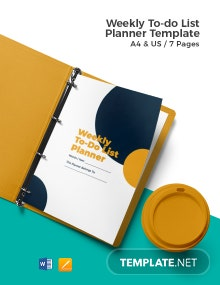 Weekly To Do List Planner Template