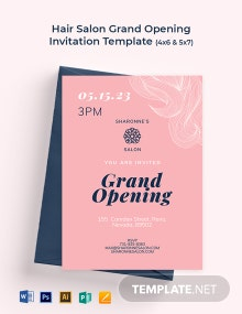 Hair Salon Grand Opening Invitation Template