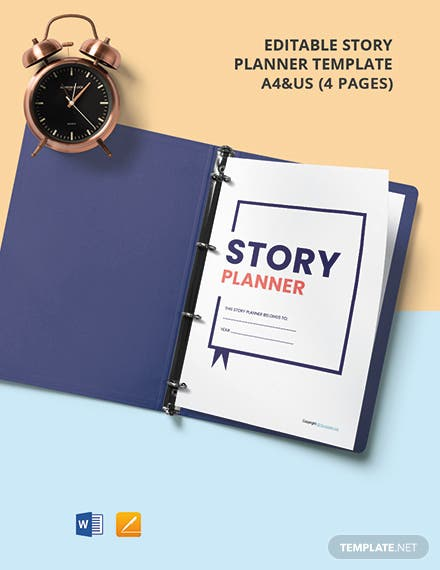 Free Editable Story Planner Template