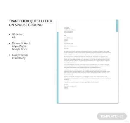 Transfer request letter due to health problem template download 700 transfer request letter on spouse ground template thecheapjerseys Gallery
