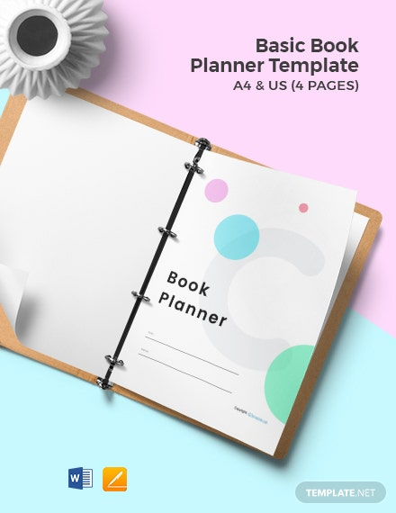 Free Basic Book Planner Template