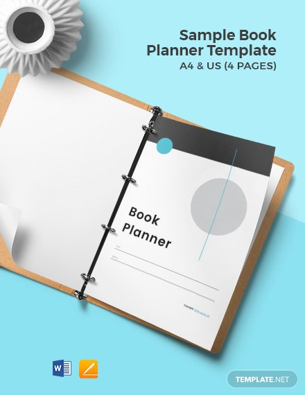 Free Sample Book Planner Template