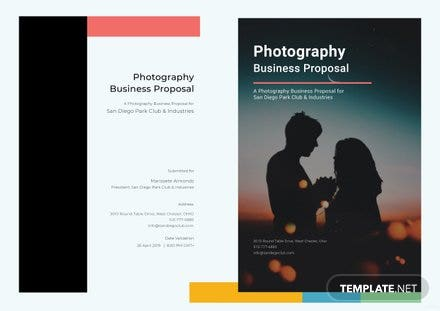Photography  Business Proposal Template