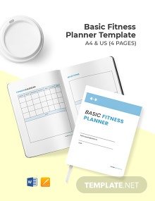 Free Basic Fitness Planner Template