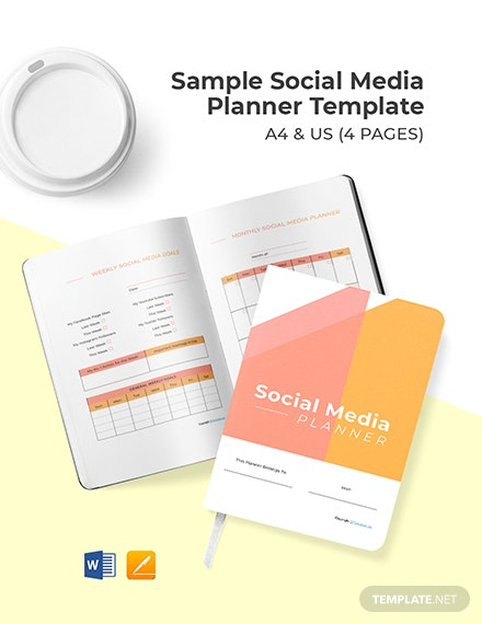 Free Sample Social Media Planner Template