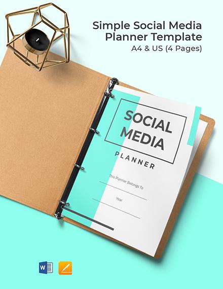 Free Simple Social Media Planner Template
