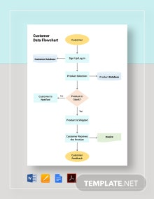 Customer Data Flowchart Template