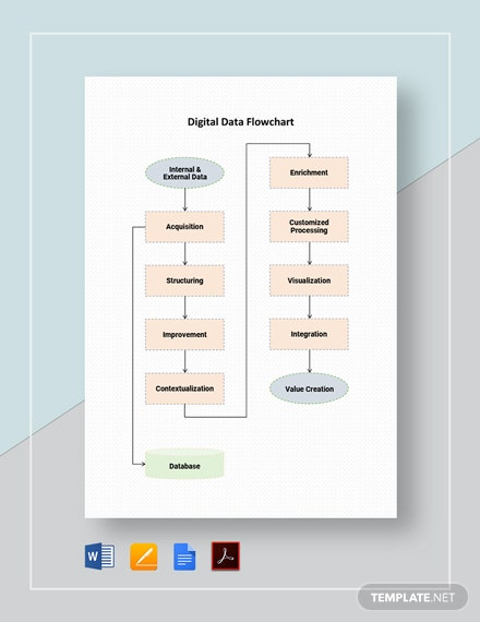 Digital Data Flowchart Template