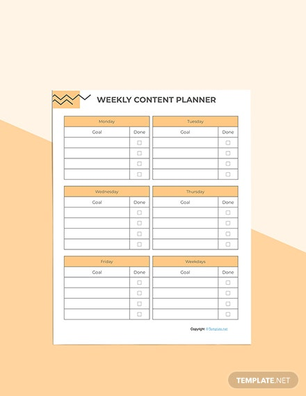 Basic Social Media Planner Download