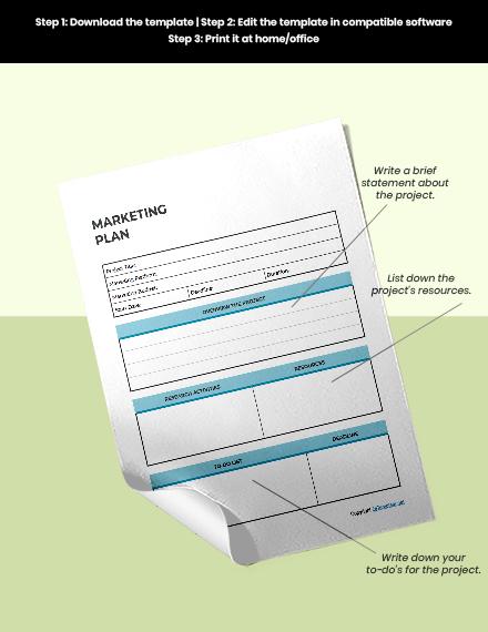 Sample Marketing Planner Example