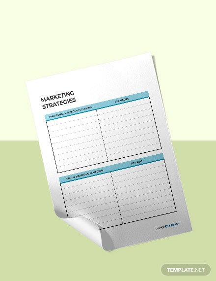 Sample Marketing Planner Format
