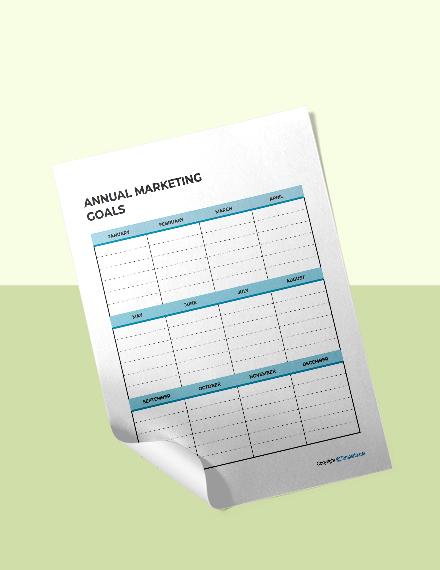 Sample Marketing Planner Template
