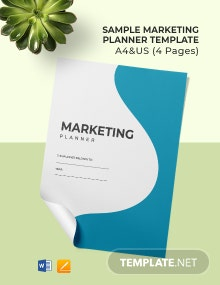 Free Sample Marketing Planner Template