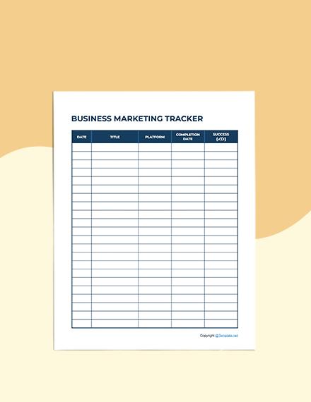 Simple Marketing Planner Format