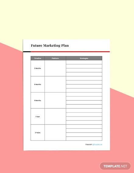 Basic Marketing planner Sample