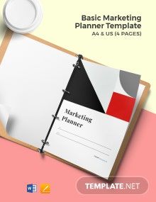 Free Basic Marketing Planner Template