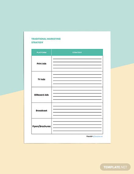 Editable Marketing Planner Template Download