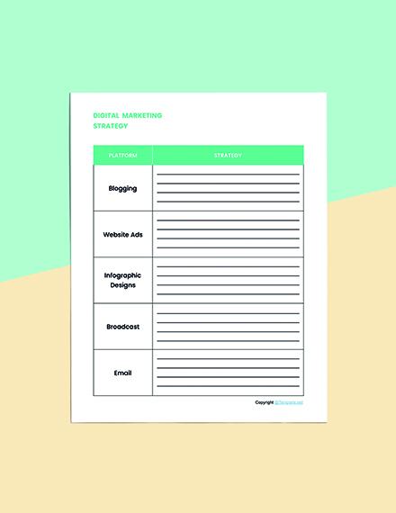 Editable Marketing Planner Template Format