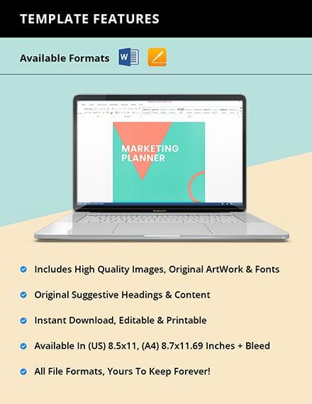 Editable Marketing Planner Template Instruction