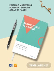 Free Editable Marketing Planner Template