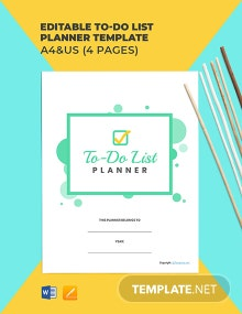 Free Editable To Do List Planner Template