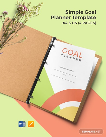 Free Simple Goal Planner Template