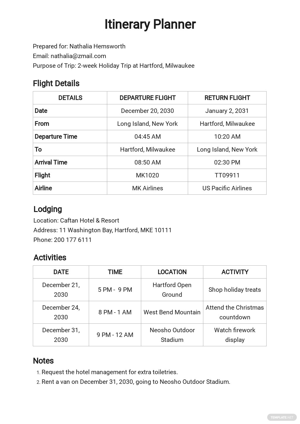 Free Blank Itinerary Planner Template.jpe