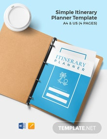 Free Simple Itinerary Planner Template