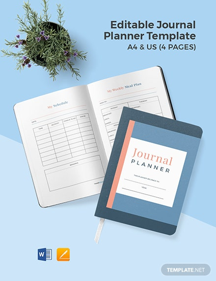 Editable Journal Planner Template
