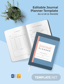 Free Editable Journal Planner Template