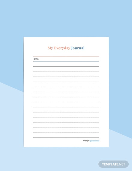 Editable Journal planner Format